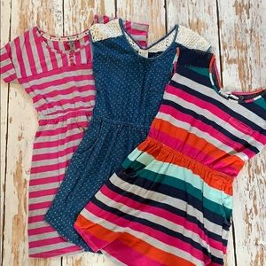 3 Roxy Cotton Play Dresses size M 8/10